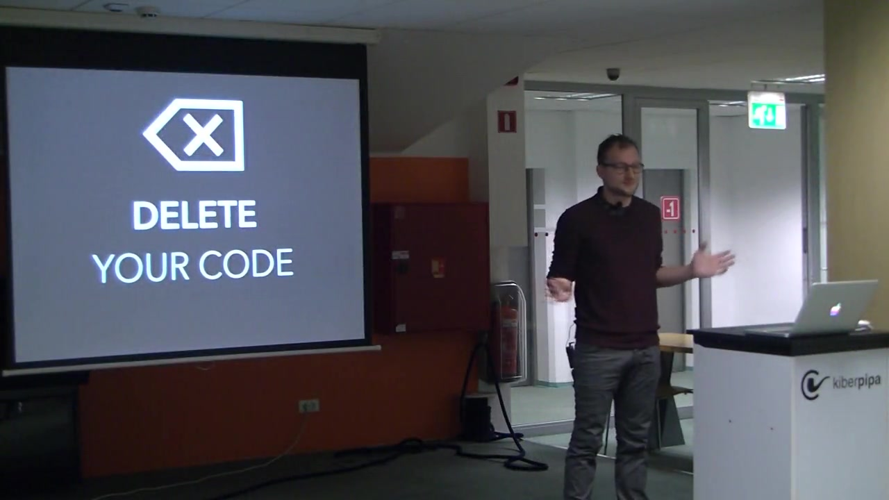 Ruby Meetup: Delete your code